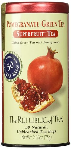 The Republic of Tea, Pomegranate Green Tea, 50-Count >>> See it now, it's a great product - Fresh Groceries