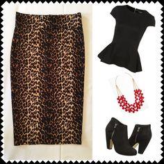 ✨SALE✨ Cheetah print bodycon pencil skirt Sz S/M Cheetah print, super stretchy, midi pencil skirt. Back vent. Pull-On style. Tag reads size Medium but fits more like a Small. Meraki Skirts Midi