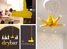love this idea for salon lighting