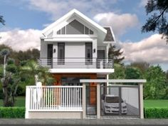 Home Design Plan with 2 Bedrooms - SamPhoas Plan Modern Bungalow House, Bungalow Exterior, Bungalow House Plans, Dream House Plans, House Floor Plans, Two Storey House Plans, One Storey House, Modern Contemporary Homes, Contemporary Bedroom