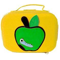 superleuk tasje appel met rups