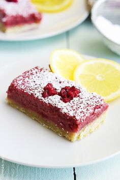 Sweet and tangy raspberry lemonade bars - the perfect cool and creamy treat for summer!