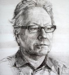 Colin Davidson...............Study of Paul Brady  2011 crayon on paper 62 x 57 cm