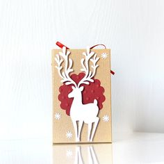 Gilded Reindeer Gift Card Holders: Featuring a by LaReveuseDesign