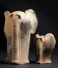 Birds of Prey - The Osprey Pottery Animals, Ceramic Animals, Clay Animals, Elephant Art, Elephant Design, Ceramic Clay, Ceramic Pottery, Sculptures Céramiques, Elephant Figurines