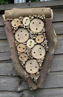 Unique mason bee house for the garden