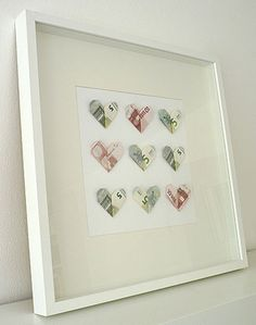 Wedding money gift - DIY heart shaped banknotes- Geldgeschenk zur Hochzeit – DIY Geldscheine in Herzform DIY hearts money gift for wedding – www. Diy Wedding, Wedding Favors, Wedding Gifts, Wedding Ideas, Wedding Supplies, Don D'argent, Creative Money Gifts, Gift Money, Wedding Anniversary Gifts