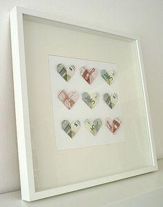 Kreatives Geldgeschenk für eine Hochzeit. Noch mehr Ideen gibt es auf www.Spaaz.de