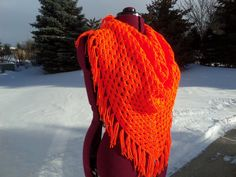 Hey, I found this really awesome Etsy listing at https://www.etsy.com/listing/182000308/neon-orange-triangle-crochet-scarf