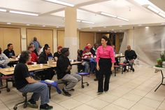 Me in action teaching a nutrition class at a residential recovery program in lower Manhattan