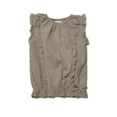 The Lacey top combines delicate ruffles with our signature fine cotton. We love this must-have girl's top for it's ability to be worn with skirts or shorts! | Olive Juice SP15