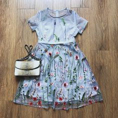 Tulle Embroidery See-Through Dress – The Other Sparrows Girly Outfits, Cute Outfits, Casual Dresses, Summer Dresses, See Through Dress, Layered Skirt, Petite Women, My Outfit, Sparrows