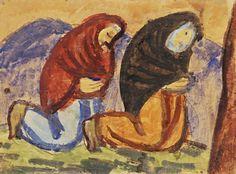 Ernest Zmeták: Modliace sa ženy:1946