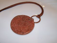 AROMATHERAPY PENDANT NECKLACE Handmade Clay by NonisEclecticShop, $18.00