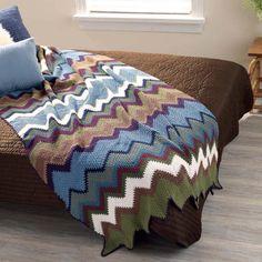 AllFreeCrochetAfghanPatterns - of Free Crochet Afghan Patterns Chevron Crochet Patterns, Afghan Crochet Patterns, Crochet Designs, Crochet Afghans, Crochet Ripple, Double Crochet, Knit Crochet, Blanket Crochet, Free Crochet