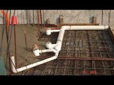 Resultado de imagen para instalaciones sanitarias baño Toilet Installation, Plumbing Installation, Plumbing Drains, Bathroom Plumbing, Cpvc Fittings, Concrete Slab Foundation, Sunken Tub, Earthship, Concrete Blocks