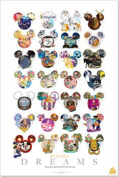 The Art of Disney store's Disney Artist's Dreams exclusive poster