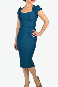 c14f994304 Fantasy style archetypes by Kati L Moore Revival Retro Teal Wiggle Dress