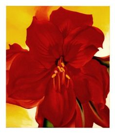 Red Amaryllis, 1937 By Georgia O'Keeffe - Visit the post for more.