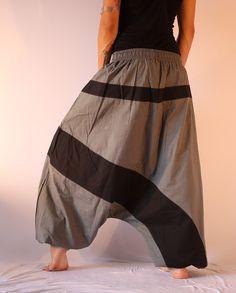"""Yogahose /""""Two-Tone/"""" Haremshose Pumphose Einheitsgröße aus Baumwolle für Damen"""