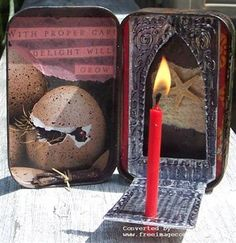 Recycle Reuse Renew Mother Earth Projects: How to make Altoid Tin Traveling Altars - beautiful ideas and inspiration!