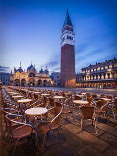 St Mark's Basilica and Campanile at Dawn - Venice