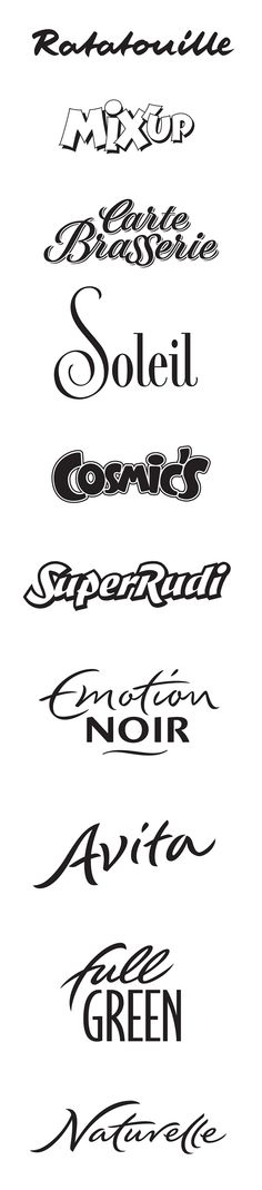 Commercial Logotypes 2 by Peter Becker, via Behance Logo Design Samples, Graphic Design Fonts, Lettering Design, Branding Design, Tattoo Lettering Fonts, Graffiti Lettering, Typography Letters, Hand Lettering, Creative Fonts