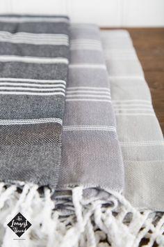 S A L E Basic Turkish Towel Peshtemal Black Dark by LongestThread