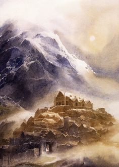 The Hobbit concept art by Alan Lee and John Howe