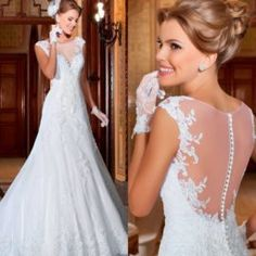 Designer Wedding Dresses 2017 Trends Elegant Vestidos De Noiva See Through Lace Wedding Dress Ve ...
