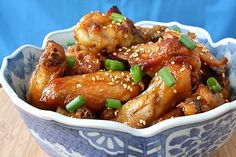 Chinese Food Recipes 中餐食谱: Sesame Chicken Wings Recipe