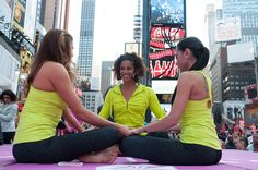Solstice in Times Square: Athleta Mind Over Madness Yoga 2013 Photo Credit: Derek Goodwin