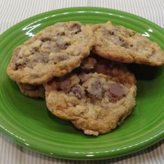 """These never fail to elicit a """"OMG you should submit this recipe; you'd win something!"""" from someone when I make them. My family doesn't like nuts but I'm sure almonds would work well with the toffee chips if you wanted to add them."""