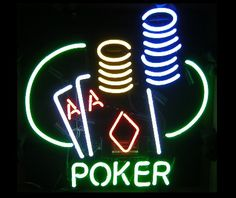 Poker neon sign leaves nothing to chance. Just plug in and hang. Rest assured knowing that your poker neon bar sign is covered with a one years manufacturer