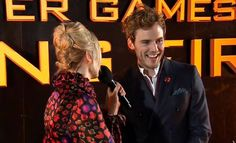 Sam Claflin couldn't have been more pumped for the world premiere of The Hunger Games: Catching Fire