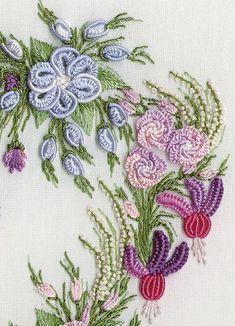 Brazilian Embroidery thread. close-up