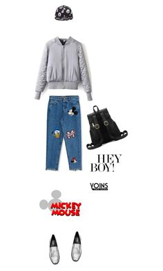 """""""Mickey mouse Yoins."""" by francesca-belotti ❤ liked on Polyvore featuring Pull&Bear, yoins, yoinscollection and loveyoins"""