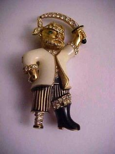 Vintage Signed Ciner Pirate Brooch Pin | eBay   Now I can afford him and boy is he unusual!