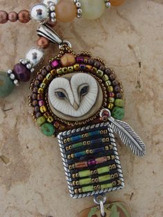 Lil Hoot Owl necklace by HeidiKummliDesigns on Etsy, $159.00