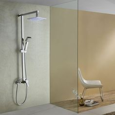 Color Changing LED Shower Faucet with 8 inch Shower Head At FaucetsDeal.com