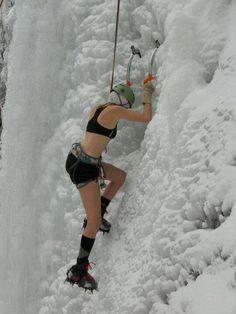 Escalar sobre el hielo