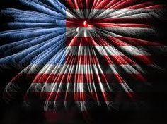 US Fireworks Cross Stitch Pattern