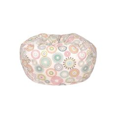 Small/Toddler Cotton  Bean Bag with Starburst Pinwheel. 84 inch Circumference (26 inch length x 26 inch width x 15 inch height). Beige Cover, Double Stitched and has a Child Safe Zipper. At Just 5 pounds, it's easy to Move From Room to Room. Durable Bean Bag has Easy Spot Clean Maintenance. Filled with Virgin Expanded Polystyrene Beans. Made in USA.<br><br>The Gold Medal Products Small/Toddler Cotton Bean Bag - Starburst Pinwheel Features:<br><ul><li&g...