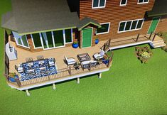 Rendering for a deck with PVC Wolf Decking Composite Decking, 3 D, Michigan, Wolf, Layout, Projects, Ideas, Log Projects, Composite Cladding