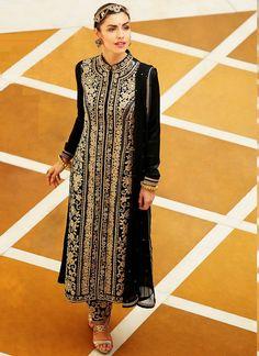 Buy this Jodha Black Colour Salwar Suit
