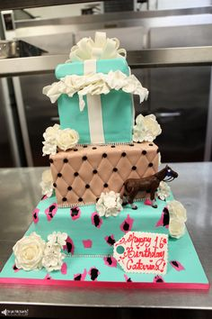 (courtesy of the Best New Jersey #Sweet Sixteen #Event #Photography - Dean Michaels Studio - www.deanmichaelstudio.com) #birthday #party #cake