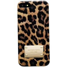 MICHAEL Michael Kors iPhone 5 Case, Cheetah Print found on Polyvore