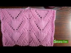 Punto CORAZONES (corazón). Tejido con dos agujas # 517 Video. - YouTube Knitting Stiches, Knitting Videos, Crochet Videos, Lace Knitting, Knitting Designs, Knitting Patterns Free, Knitting Projects, Stitch Patterns, Crochet Coat