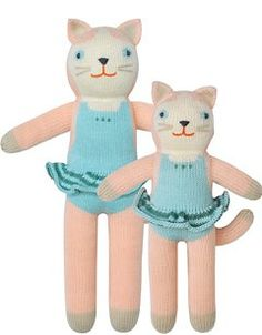 I would order one with blue and one with pink.  Twins with different outfits! :)  Knit Dolls, Stuffed Dolls, Mermaid Toys | blabla kids
