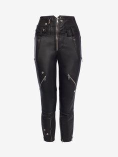 Da Donna PELLE LOOK SKINNY STRETCH Anca Pantaloni Biker Ecopelle Pantaloni Skinny Slim Fit